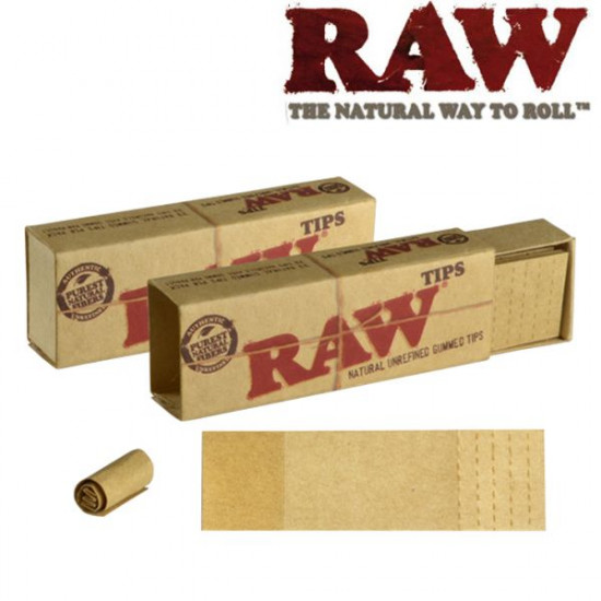 RAW Authentic Perforated Gummed Tips